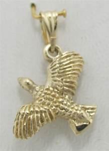 14K solid yellow gold Wild Bird /Turkey Pendant ...