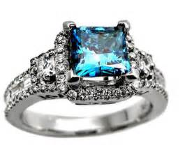 princess cut blue engagement rings pin by alexandra beguhn on jewelry design ideas