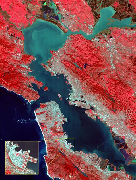 space images aster images san francisco bay area