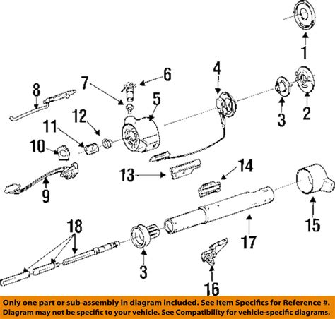 Gm Steering Column Diagram by Gm Oem Steering Column Assembly Switch Assembly 7830384 Ebay