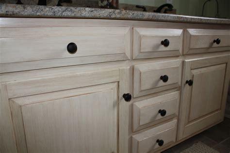 Distressed Bathroom Cabinets by Antiqued Distressed Bathroom Vanity
