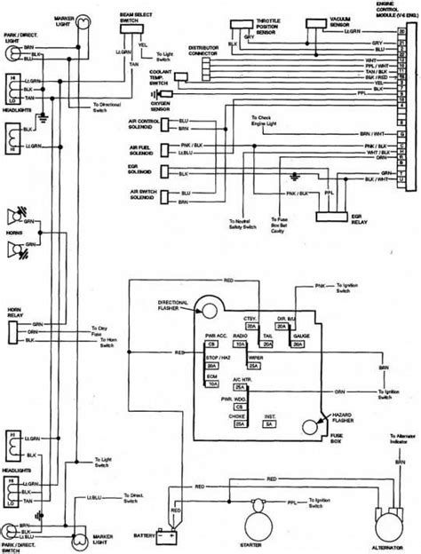 1988 Chevy Truck Alternator Wiring by 85 Chevy Truck Wiring Diagram Chevrolet Truck V8 1981