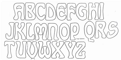 cool bubble letters alphabet  trace theveliger