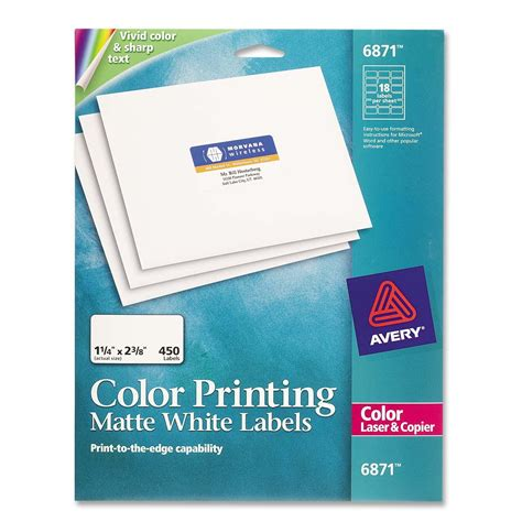 Avery Dennison Labels Templates by Color Printing Label Avery Dennison 6871 Ave6871 Labels