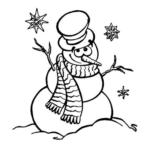 Sneeuwman Kleurplaat Simpel by Leuk Voor Sneeuwpoppen Kleurplaten
