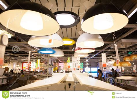 ikea store  chengdu lamps editorial photography image