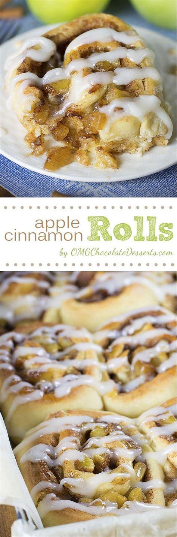 Pie fillings, seasonal fall, seasonal winter tagged with: Apple Pie Cinnamon Rolls | Chocolate Dessert Recipes - OMG ...