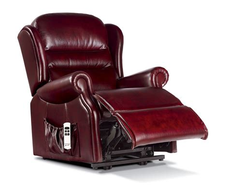 Small Reclining Chairs Uk by Ashford Small Leather Lift Rise Recliner Sherborne