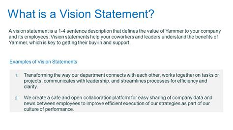 vision statement template strategic plan template ppt