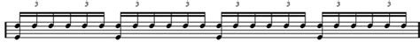 A triplet is a type of tuplet that allows us to play three notes in the time of two notes. Drum Lessons | Definition of Triplets