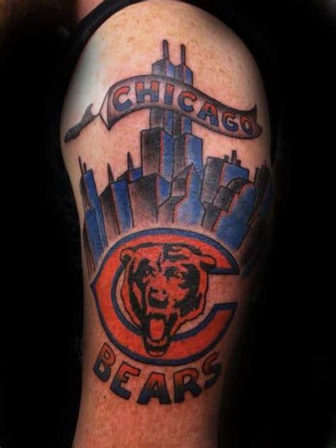 chicago bears tattoos  men nfl football ink ideas