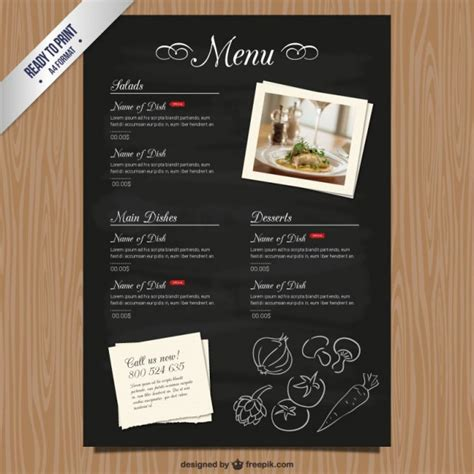 Contoh desain daftar menu untuk pada pengusaha kuliner. Background daftar menu makanan 8 » Background Check All