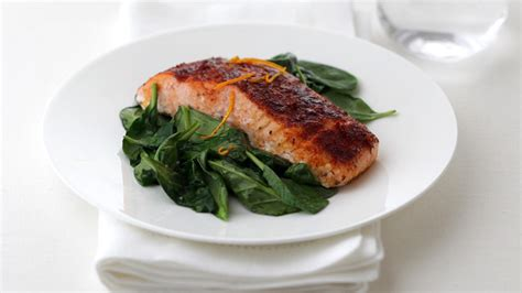 Smoked Paprika Roasted Salmon With Wilted Spinach  Mccormick