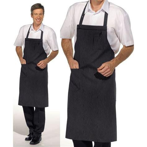 tablier de cuisine pour homme tablier cuisine à bavette 1poche plaquée sur le côté peut
