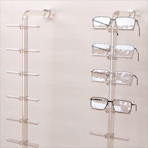 magnifying floor l with light dwy fl acrylic wall mount eyewear display rod w 10 12 or