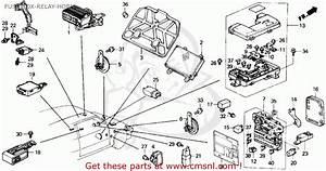 Honda Crx 1989 2dr Si  Ka Kl  Fuse Box