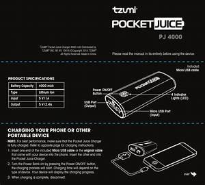 Tzumi U00ae Pocket Juice Charger 4000 Mah Distributed