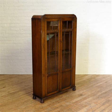 Tall Art Deco Oak Bookcase  Antiques Atlas