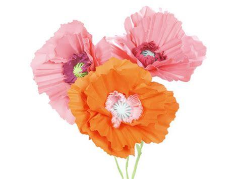 giant paper poppy flower decoration video martha stewart