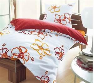 Bettwäsche Orange Rot : 2 tlg mako satin bettw sche von his 135 x 200 rot orange bettgarnitur blume neu ebay ~ Markanthonyermac.com Haus und Dekorationen