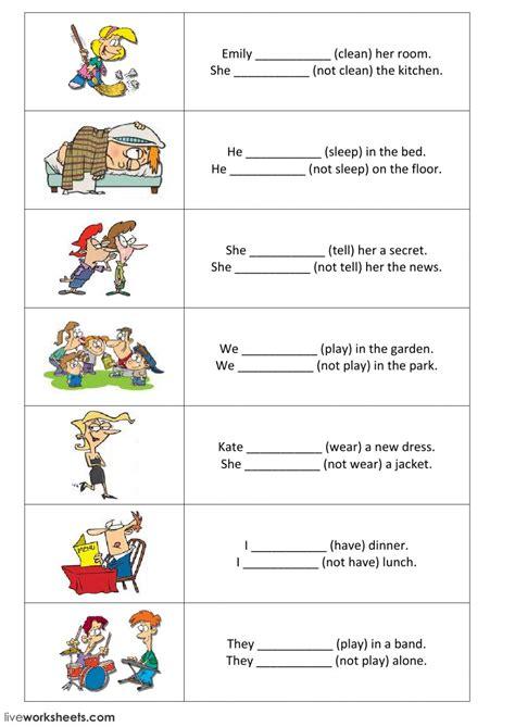simple positive  negative sentences part