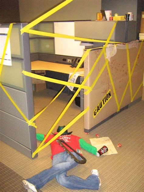 happy halloween    cubicle decorating contest
