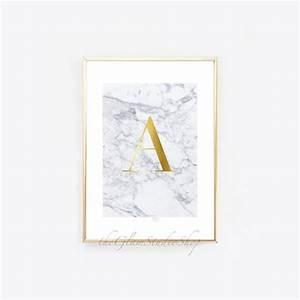 custom monogram initial letter printable gold foil initial With gold letter printing