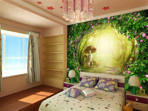 tapisserie de chambre papier peint fantasie romantique chambre fille sur mesure