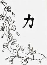 Blossom Cherry Coloring Tree Drawing Line Drawings Flowers Flower Pages Blossoms Printable Draw Adult Adults Cartoon Japanese Colouring Trees Japan sketch template