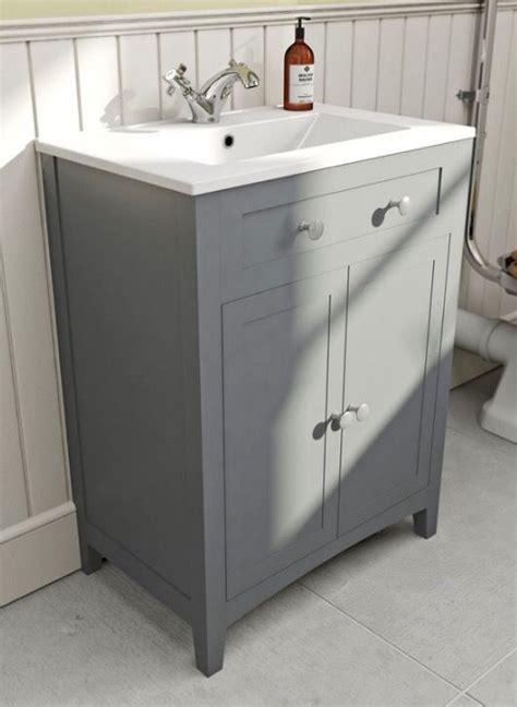 victoria plumb vanity unit  sink grey  include