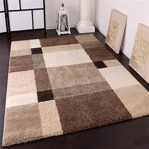 tapis lourd tisse moderne design style beige creme marron With tapis champ de fleurs avec canapé style directoire