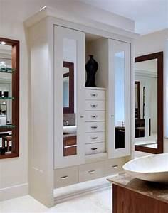 30 modern wall wardrobe almirah designs for Bathroom almirah designs