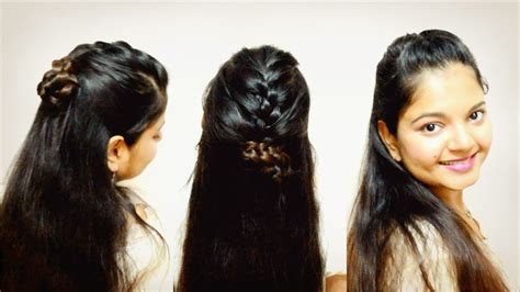 half up french braided updo hairstyles for open hair