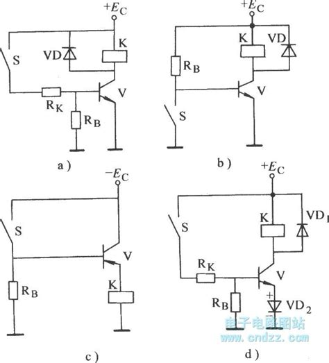 Common Transistor Electronic Relay For Controlling Base