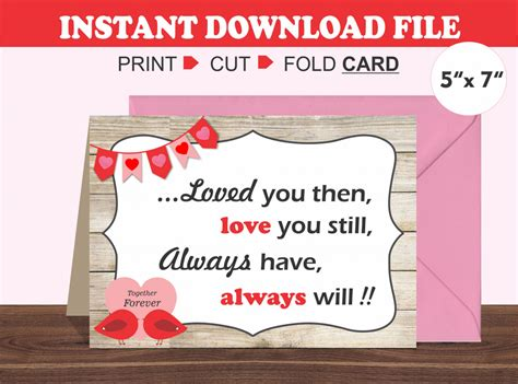Valentine Day Cards Husband Printable