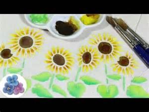 Fabric Paint Flower Stencils