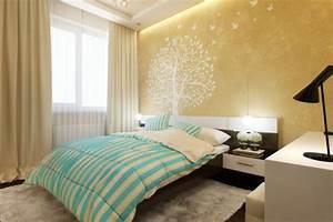 Tapeten Modern Schlafzimmer : kleines schlafzimmer modern gestalten designer l sungen ~ Markanthonyermac.com Haus und Dekorationen