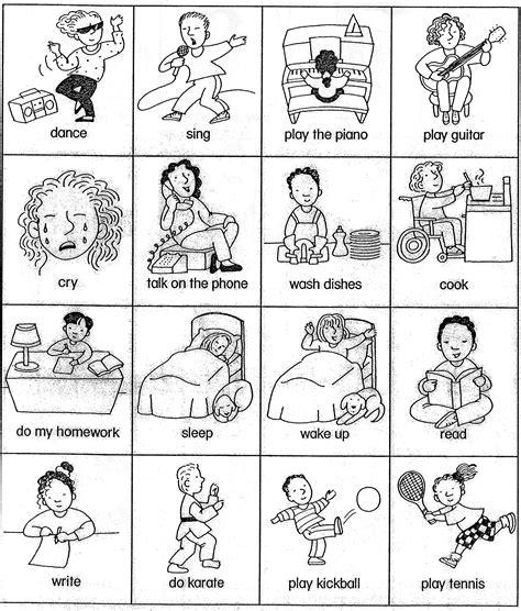 sheet  teaching basic verbs verb card games beginner