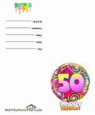 Free Printable 50th Birthday Party Invitation