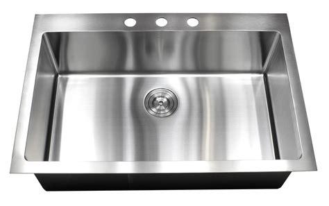 best stainless steel sink 33 inch top mount drop in stainless steel single bowl