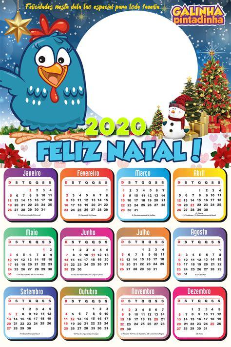 Galinha Pintadinha Calendário 2020 de Natal Imagem Legal