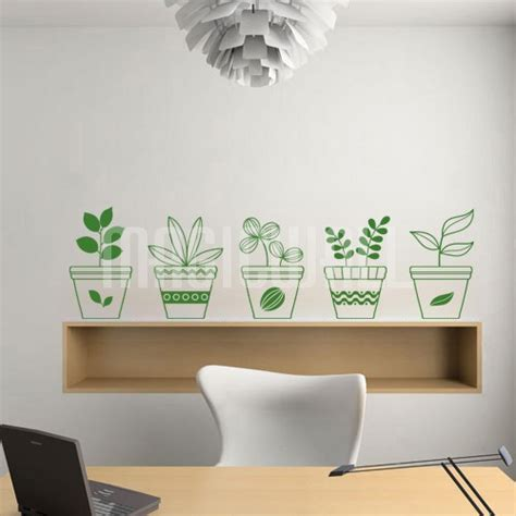 wall decals flowerpots wall stickers canada