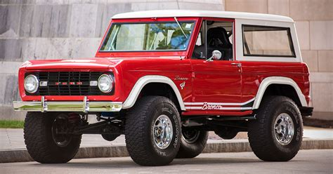 2019 Ford Bronco Convertible by Auction Block Restored 1966 Ford Bronco 4x4 Hiconsumption