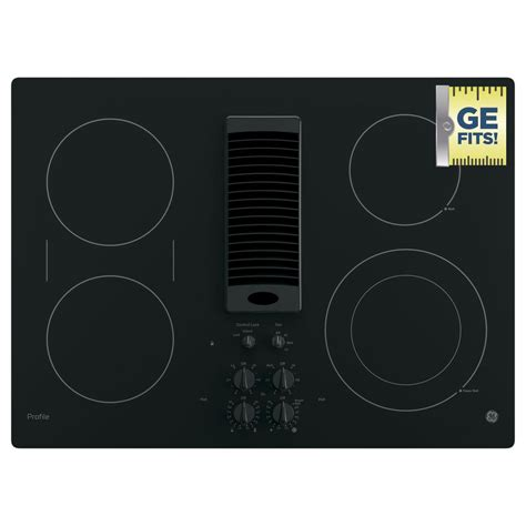 downdraft electric cooktop ge profile 30 in radiant electric downdraft cooktop in