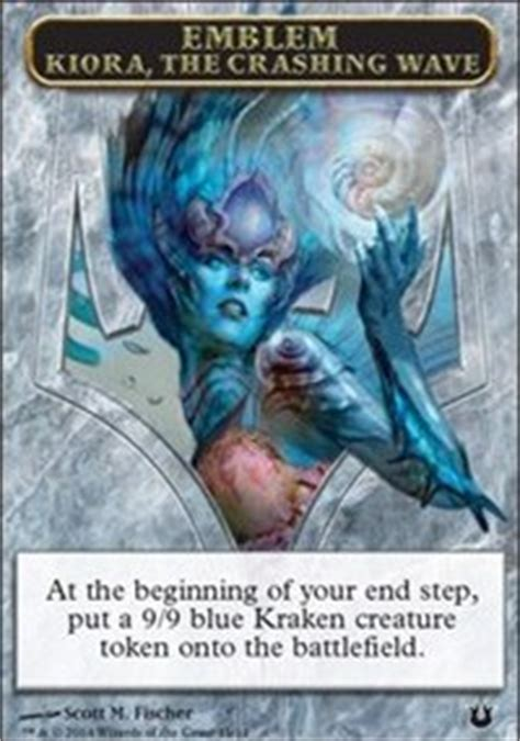 emblem kiora the crashing wave born of the gods magic the gathering gaming store