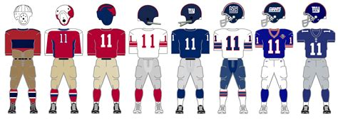 big blue  history    york giants uniforms