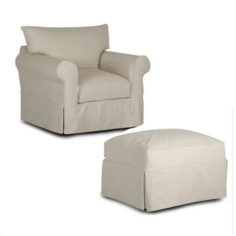 slipcover for chair and ottoman home furniture office furniture bedroom furniture and