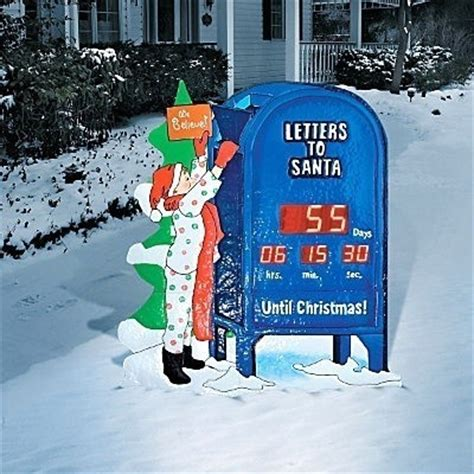 retro lighted outdoor holiday countdown  christmas clock