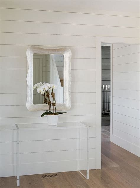 Shiplap Painted White shiplap walls painted in benjamin white dove oc 17