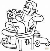 Lawn Mower Coloring Colorare Disegno Disegni Printable Erba Kleurplaat Ausmalbild Supercoloring Grasmaaier Tired Cartoon Rasenmaeher Ausmalbilderdisney Housekeeping Quietsche Entchen Seife sketch template